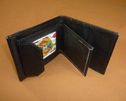 【意凡魔術小舖】高品質牌入錢包 牌入皮夾 牌入皮包魔術皮夾錢包街頭魔術把妹魔術