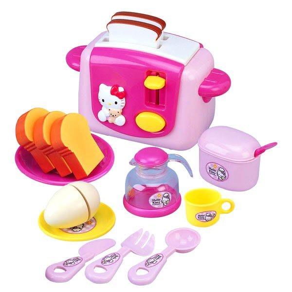 家家酒玩具-三麗鷗 Hello Kitty烤麵包機~擬真又可愛~配件內容超豐富~◎童心玩具1館◎
