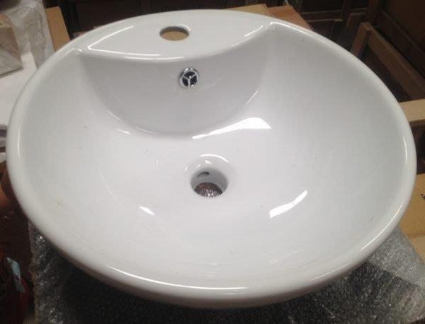 FUO 衛浴:46公分強化玻璃台面+陶瓷面盆組 含龍頭,P管,落水頭 (313FF)