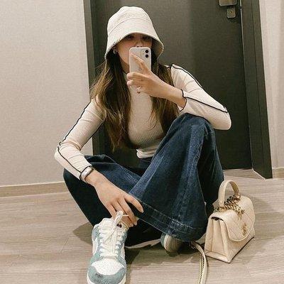 DAZE DAYZ正品 韓國設計師品牌   半高領拼色緊身T恤上衣