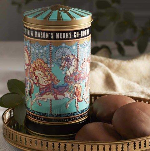 Ariel's Wish倫敦連線預購-英國皇室御用Fortnum & Mason旋轉木馬音樂盒珠寶盒禮物餅乾禮盒-迷你版
