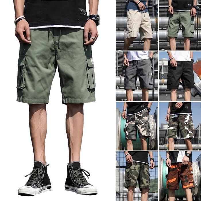 💞【💞HU帥氣潮男爆款💞】☛型男必備 ☚韓版寬鬆直筒五分褲💞