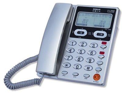 【通訊達人】【全新/含稅】SANLUX 台灣三洋 TEL-868 雙外線來電顯示有線電話機_東京銀