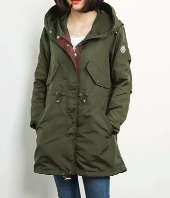 【喬喬本舖】秋冬中長款風衣外套 長版連帽外套 軍裝外套  MONCLER  3色A00