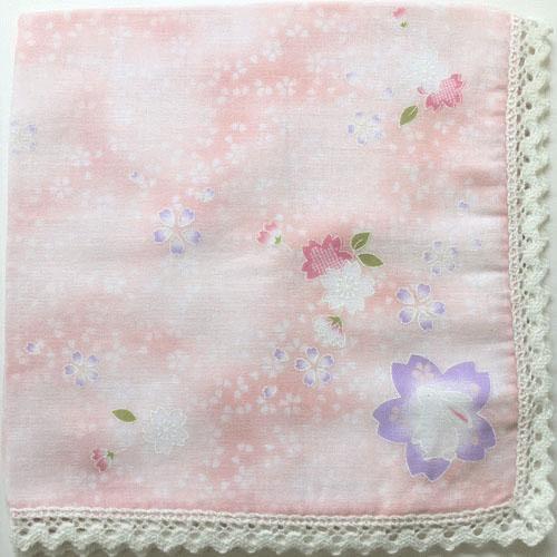 雙層紗月兔手巾帕