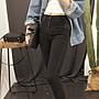 2018秋裝 水洗黑灰彈力牛仔鉛筆褲【ZOWOO-0125】七分九分顯瘦褲長褲小腳褲中高腰復古著 非正韓國連線