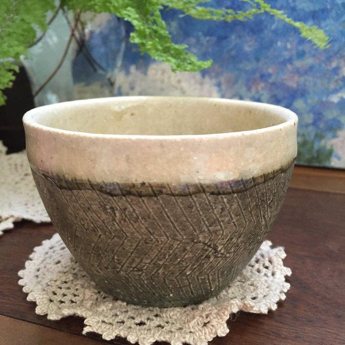 全新!日本作家 咖啡杯 茶杯 陶杯 (灰綠色)