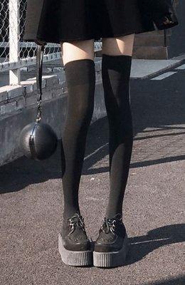 【黑殿】黑色超長膝上襪大腿襪 防滑設計大腿襪 男生可穿 cosplay超長天鵝絨襪 百搭黑色長襪學生襪VK108