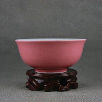 大清禦膳房 單色粉紅釉飯碗湯碗