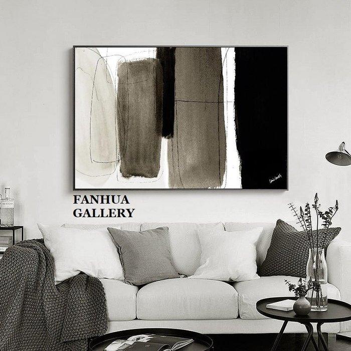 C - R - A - Z - Y - T - O - W - N 簡約抽象藝術掛畫商空住宅空間客廳橫幅極簡抽象裝飾畫