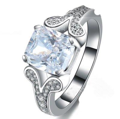 結婚求婚戒指女鑽石 3克拉犒賞自己 精...