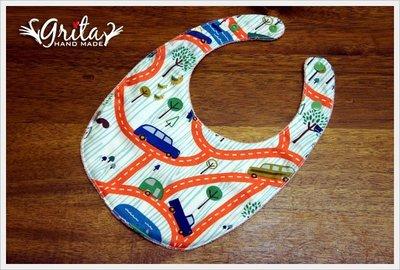 ♥grita's handmade♥純棉手作嬰幼兒圍兜兜/領巾/口水巾/三角巾/彌月禮—旅行
