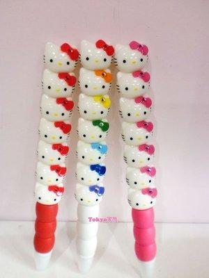 東京家族 kitty 可愛造型筆 紅色 粉紅 彩色 3選1 現貨
