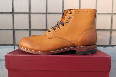 《Classic Hunter》全新美製WOLVERINE 1000 Mile日落黃工作靴9.5D(Tricker's)