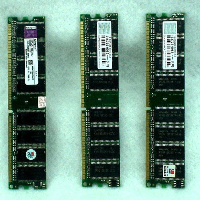 5Cgo【權宇】創見 金士頓 DDR 400 1G CL3 雙面桌上型電腦用記憶體 184PIN 2.6V 一標三支含稅