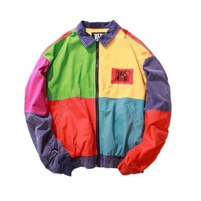 【Result】RDCC 90's 復古波普多色防風夾克外套 艾福杰尼著用款 中國有嘻哈