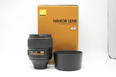 【高雄青蘋果3C】Nikon AF-S NIKKOR 105mm F1.4 E ED 人像鏡皇 公司貨 #62380