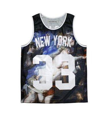 BAD BUNCH NYC紐約惡漢NBA運動球衣背心War Jersey 33網布透氣籃球背心 現貨M【BoXhit】