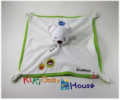 ☆奇奇娃娃屋(QH)☆ItsImagical,明星商品 Kico Nico 老鼠造型安撫巾,四角有綁角--200元