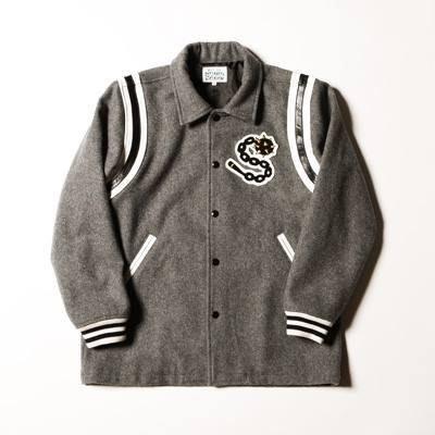 【AXE】SNOID -BARBARIANS JACKET 棒球外套[灰] 西岸 潮流 刺青重機日牌日本製造品質刺繡