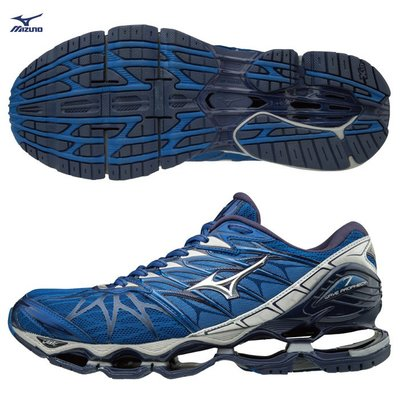 (26.5cm)【MIZUNO 美津濃】WAVE PROPHECY 7慢跑鞋 /藍 J1GC180004 M811