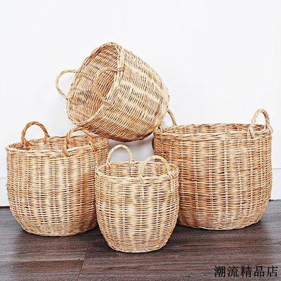 麵包籃 編織籃 提籃 野餐用品 收納籃 金剛藤編綠植花盆套家居客廳陽臺花器雜物收納桶儲物籃
