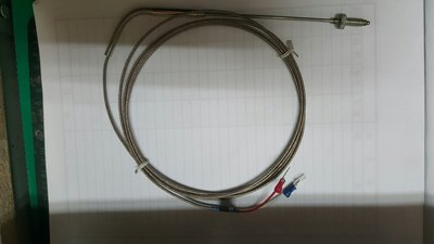 [清倉溫度控制器專區]溫度感測線500度內 K(CA) 2分螺絲頭 線長2m 感測棒 感溫線