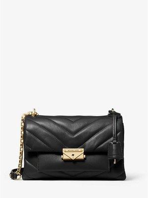 Coco 小舖Michael Kors Cece Medium Quilted Leather Bag 黑色肩/斜背包