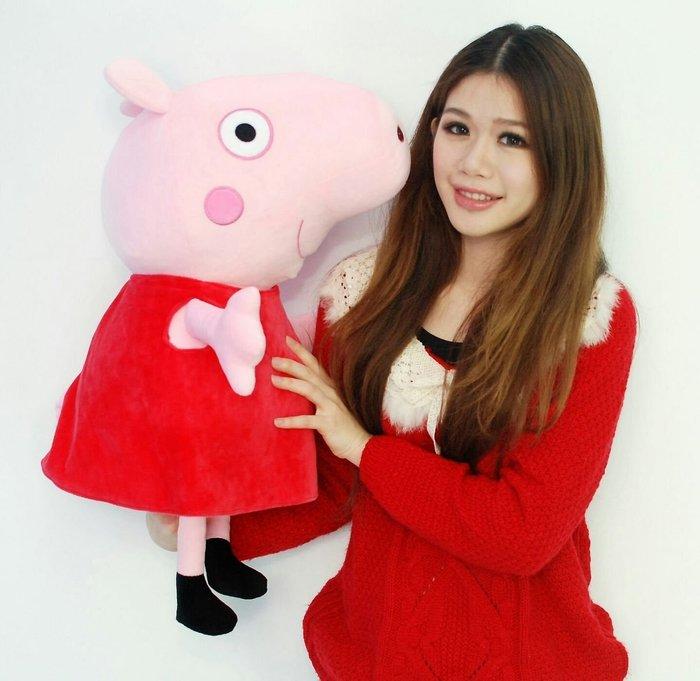 喬治豬/佩佩豬大娃娃~高60公分~正版~PeppaPig~豬小妹~豬玩偶~最受歡迎玩偶