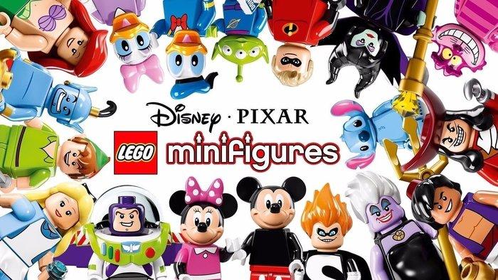 送樂高腳踏車【LEGO 樂高】迪士尼 Disney 系列: Minifigures人偶包抽抽樂 全套共18個 71012
