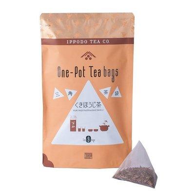 TAKI MAMA 日本代購 一保堂茶舖 烘焙茶梗立體三角茶包9袋入。預購中