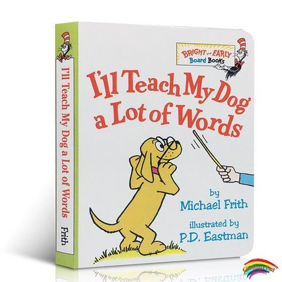英文原版 小開紙板 I'll Teach My Dog a Lot of 100 Words  100個單詞詞匯書 Dr
