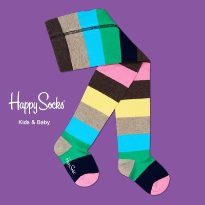 Freaky House-瑞典品牌Happy Socks Stripe Tights彩色條紋造型設計童襪嬰兒長統襪