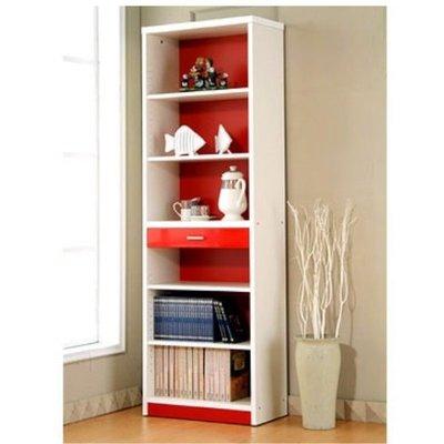 【家具先生】1860-RD《心情》6*2尺書櫃(紅+白)