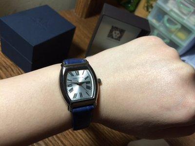 美國Anne Klein Cartier 卡地亞 款藍色皮帶女錶 附送禮盒子 Seiko Agnes b參考 母親節禮物 新北市