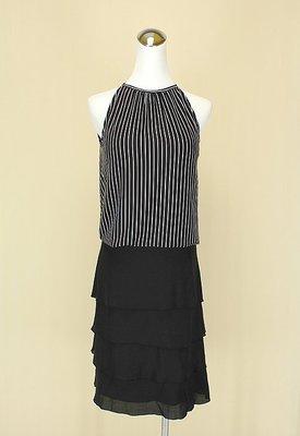 ◄貞新►youths&maidens 黑色圓領露背牛奶絲上衣F號+INDIVI 日本黑色棉質蛋糕裙M(40(17808)