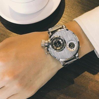 創意個性手錶男學生電子錶穿越火線潮流炫酷霸氣歐美大錶盤潮男錶(可開立發票)