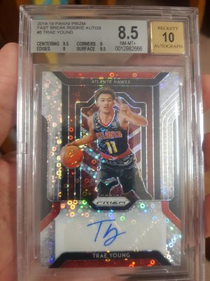 2018-19 Panini Fast Break Prizm Trae Young RC Rookie AUTO