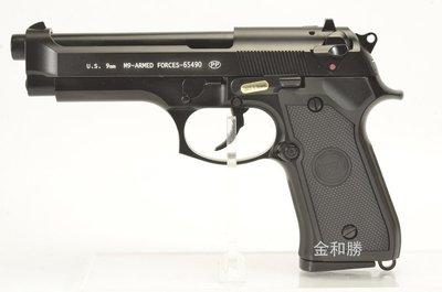台中.彰化((金和勝 生存遊戲專賣))黑色 WE 單連發 刻字版 M9 瓦斯手槍 4545 W