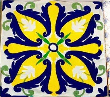 藍色黃色綠色白花滿繡抱枕45x45cm含枕心幾何圖形電繡花不是印花的靠枕寢具家飾【玫瑰物語】