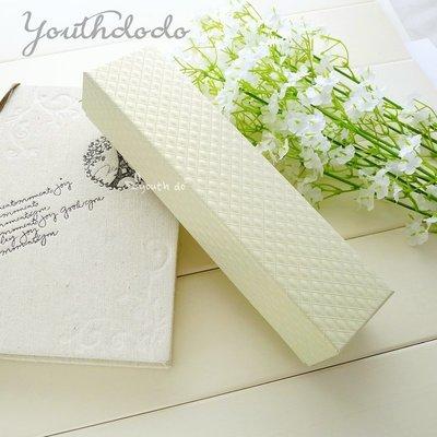 淡黃色鑽石紋路經典項鍊盒包裝盒婚禮小物...