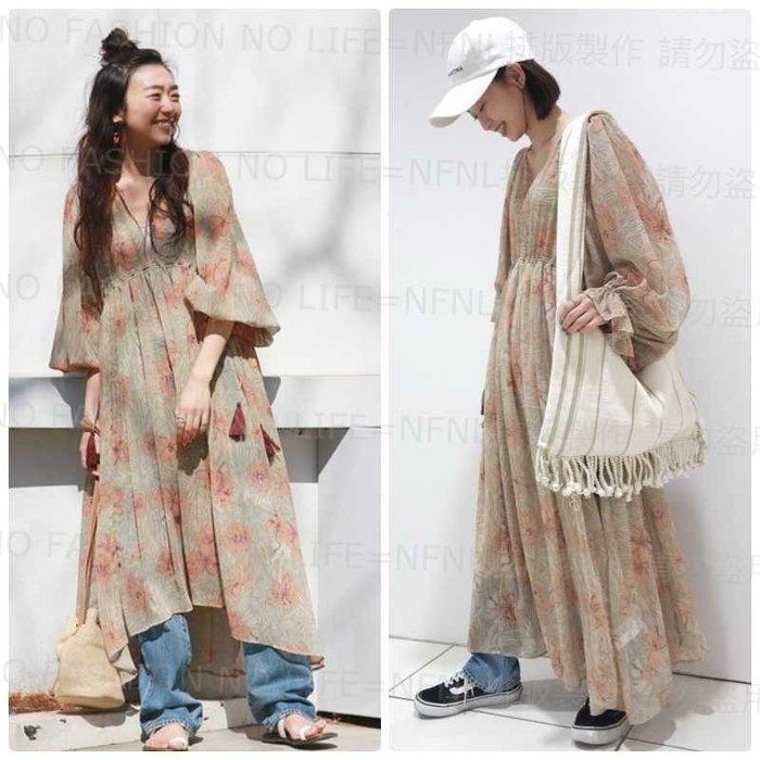 ☆NFNL☆限量商品 UNGRID 主打推薦必收款 度假風 波希米亞 花卉花柄長襯衫洋裝 H&M MOUSSY