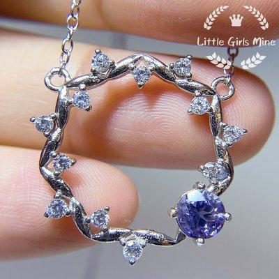 天然石-輕珠寶-春天盛宴系列-堇青石頸鍊(純銀)