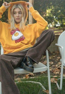 全新正品 2020 小賈斯汀 Drew House 橙紅色小熊 黃色拖鞋 長袖帽T