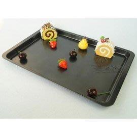 【不粘烤盤-鐵制-A5淺長方盤】烘焙工具 蛋糕模具 烤箱用 做蛋糕的(烤盤37*26.5*1.5cm)-8001001