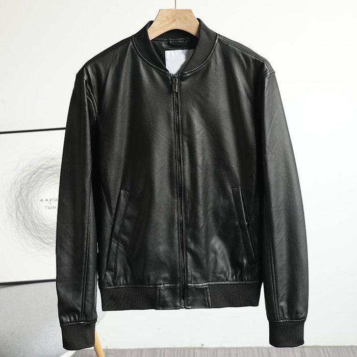☆MR.STORE.A☆歐單簡約修身棒球領皮衣外套夾克(黑色)~預購+現貨
