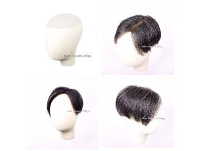 Hair Blooms Wigs_HairPiece_脫髮_真髮假髮_遮蓋白髮_男士髮片_增加10%白髮