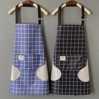 廚房日用 可批發廚房家用圍裙防水防油裙子時尚女日系韓版做飯工作服男士定制LOGO