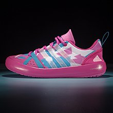 D-BOX  Adidas CLIMACOOL BOAT LACE GRAPHIC BOOST 涉水鞋 粉藍 女鞋