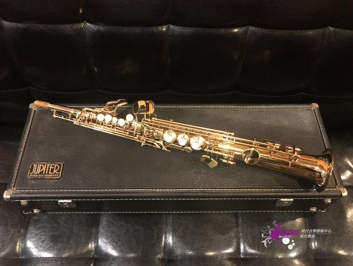 【現代樂器】49折託售!85成新 Jupiter SPS-547 Soprano Sax 金漆 一體成形 高音薩克斯風